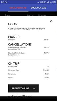BOOK OLA & UBER CAB WITH PRICE COMPARISON screenshot 1