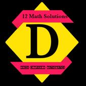 12 Dinesh Math Solution icon