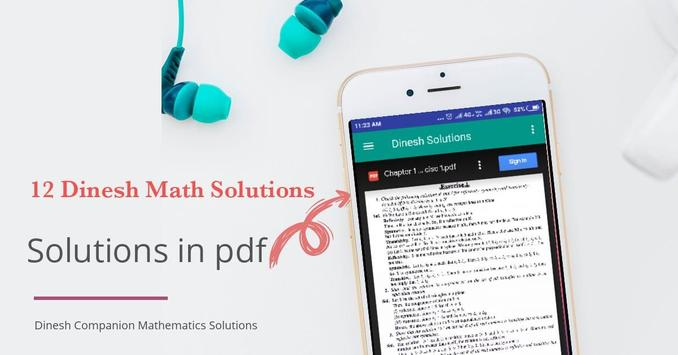 12 Dinesh Math Solution poster