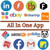 All in one App (All social media +News +Shopping) icon