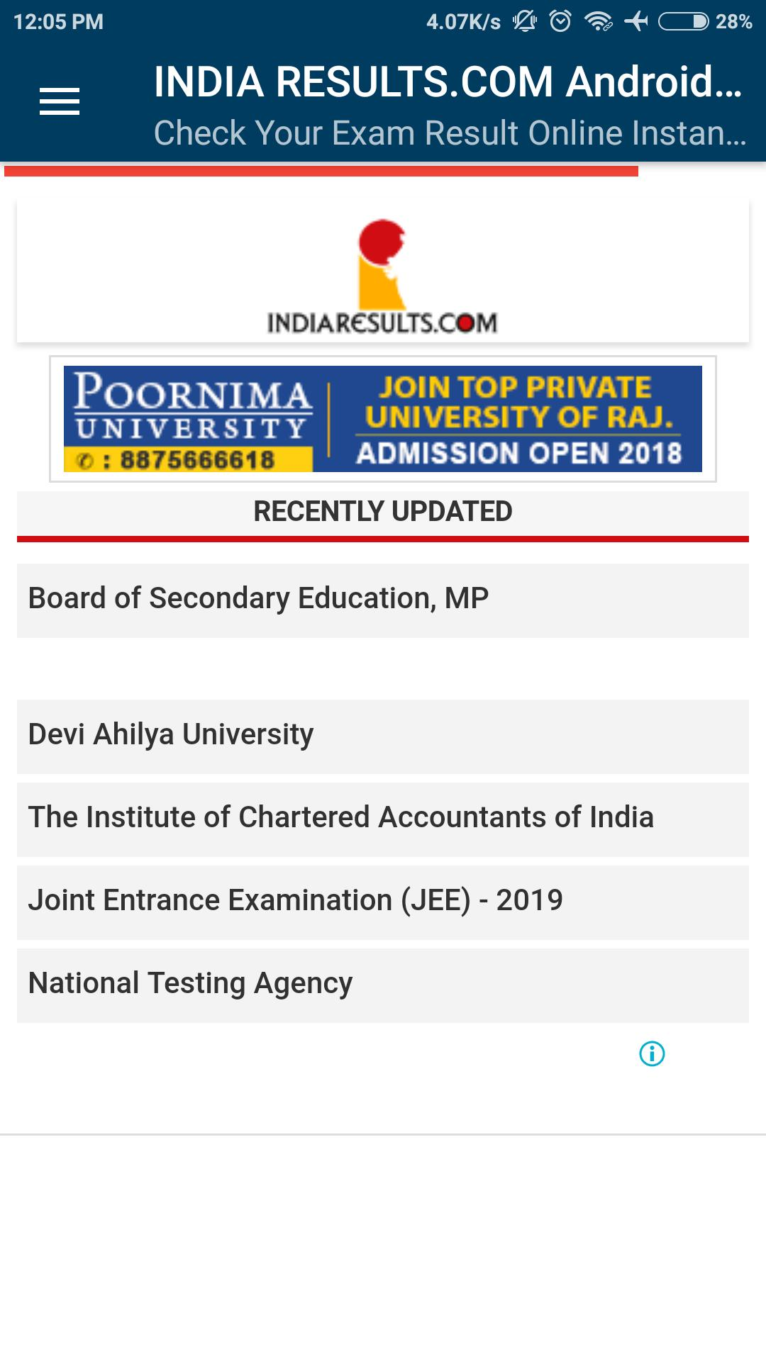 INDIA RESULTS COM : No 1 Result Portal Of India for Android
