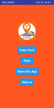 Online train khana ( order food in train app ) screenshot 1