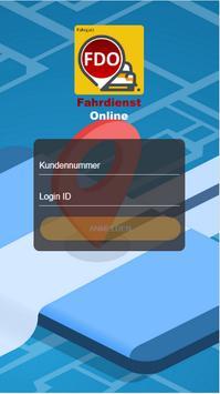 Fahrdienst Online - Fahrgast poster