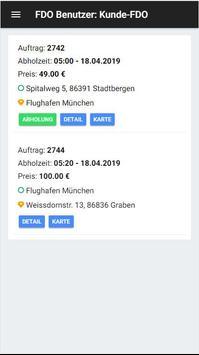 Fahrdienst Online - Fahrgast screenshot 1