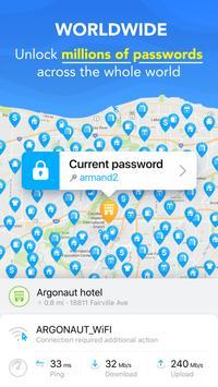 WiFi Map® निःशुल्क पासवर्ड और हॉटस्पॉट और वीपीएन स्क्रीनशॉट 1
