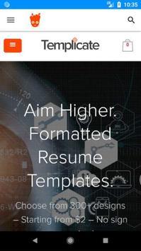 Templicate Resume Templates poster