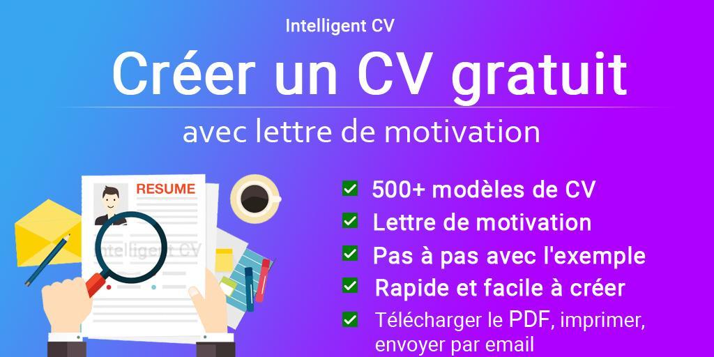 Créer Un Cv Gratuit 2019 Pdf Cv Exemples Modèles Pour