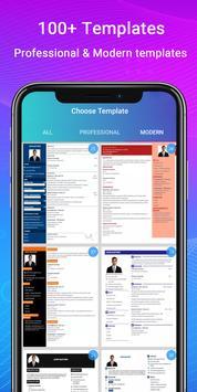 Resume Builder App Free CV maker CV templates 2021 poster