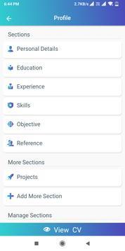 Resume Builder App Free CV maker CV templates 2021 screenshot 10