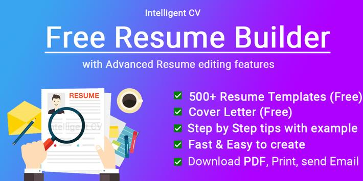 Resume Builder App Free CV maker CV templates 2020 for ...