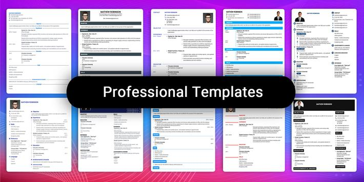 Resume Builder App Free CV maker CV templates 2021 screenshot 4