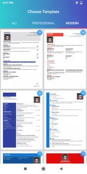 Resume Builder App Free CV maker CV templates 2021 screenshot 15