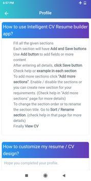 Resume Builder App Free CV maker CV templates 2021 screenshot 16