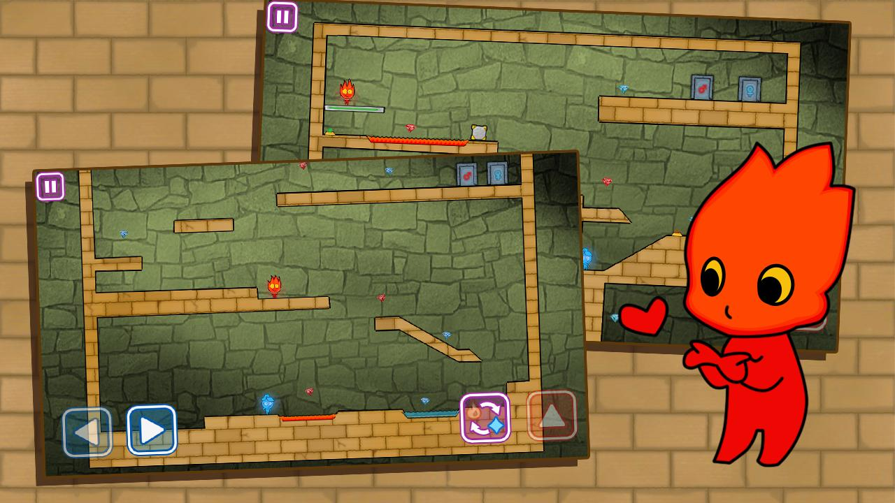 Redboy And Bluegirl In Light Temple Maze For Android Apk