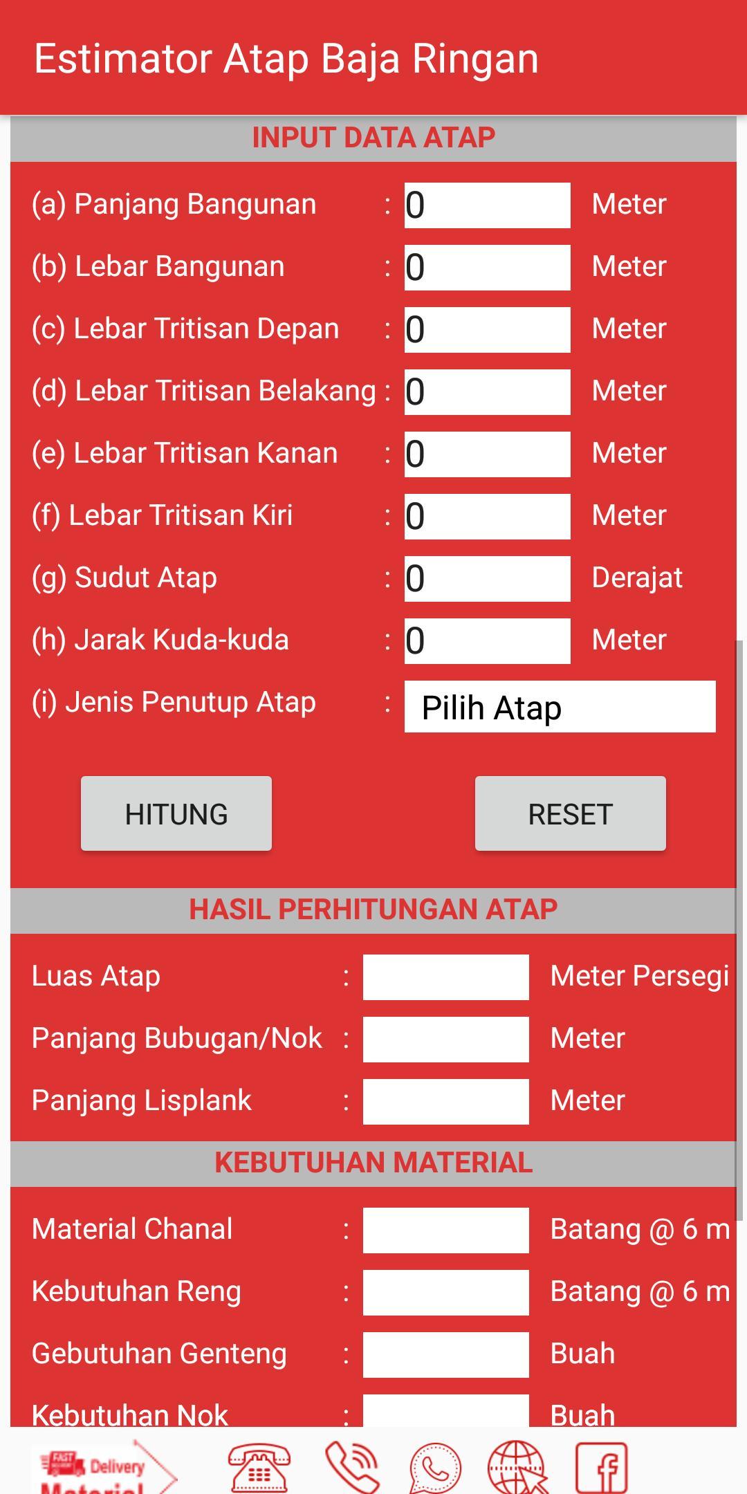 Estimator Atap Baja Ringan For Android Apk Download