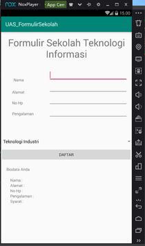 Membuat Formulir Aplikasi Teknologi screenshot 1