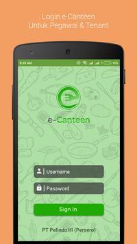 e-Canteen poster