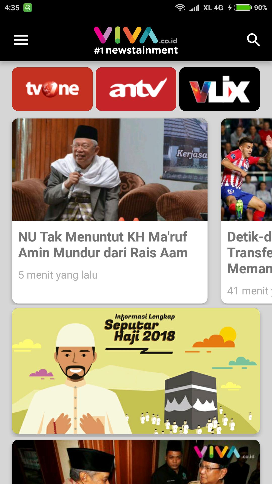 Viva Live Streaming Tvone Antv 1newstainment For Android Apk Download
