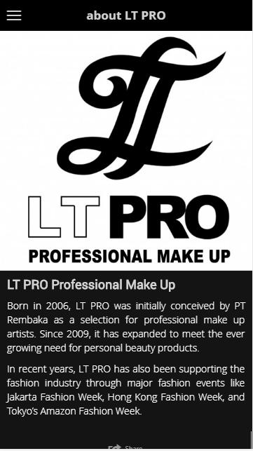 Aplikasi LT PRO Professional Make Up