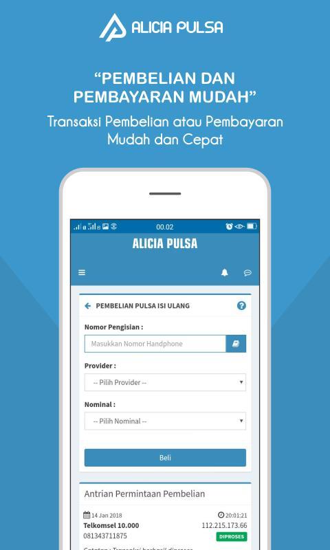 Alicia Pulsa Aplikasi Pulsa Ppob Termurah For Android Apk Download