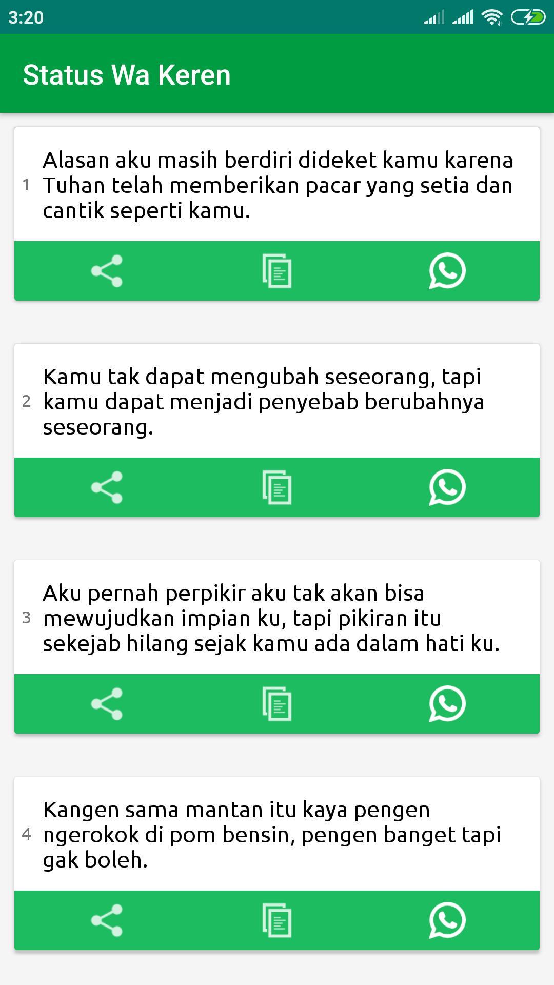Status Wa Terbaru Lucu Gokil Keren Galau Sedih For Android