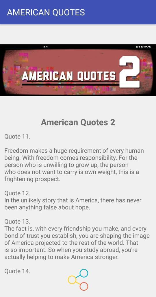 AMERICAN QUOTES poster