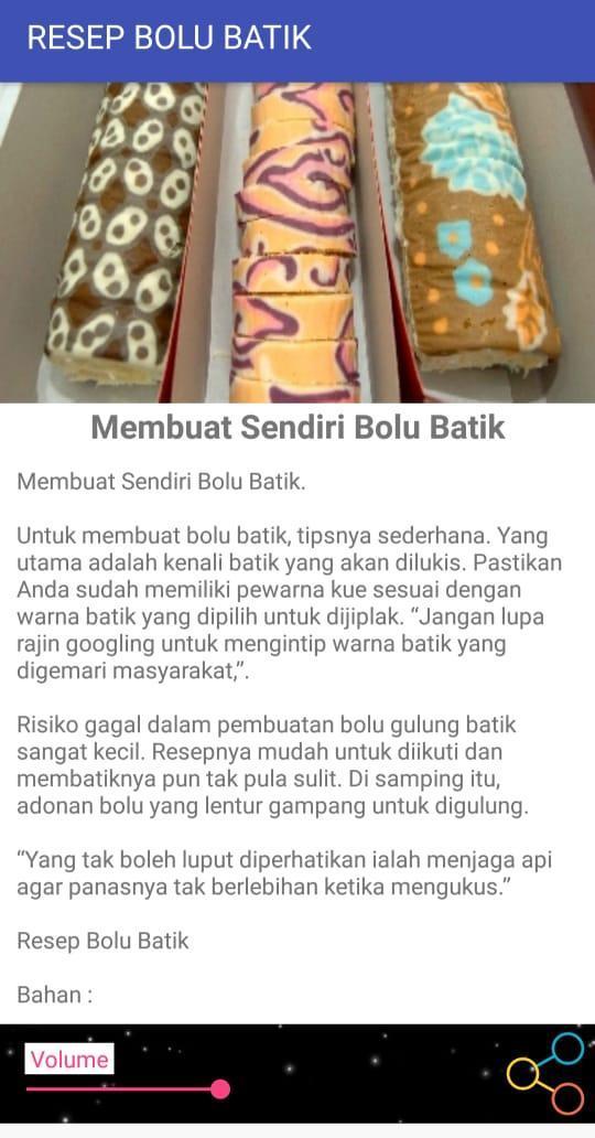 Resep Bolu Batik Für Android Apk Herunterladen
