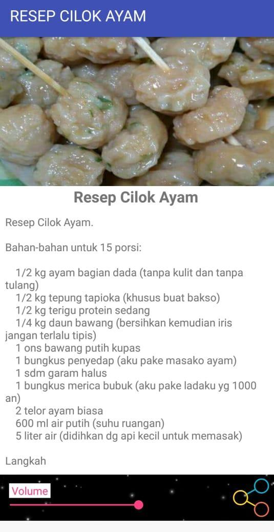 Resep Cilok Ayam For Android Apk Download