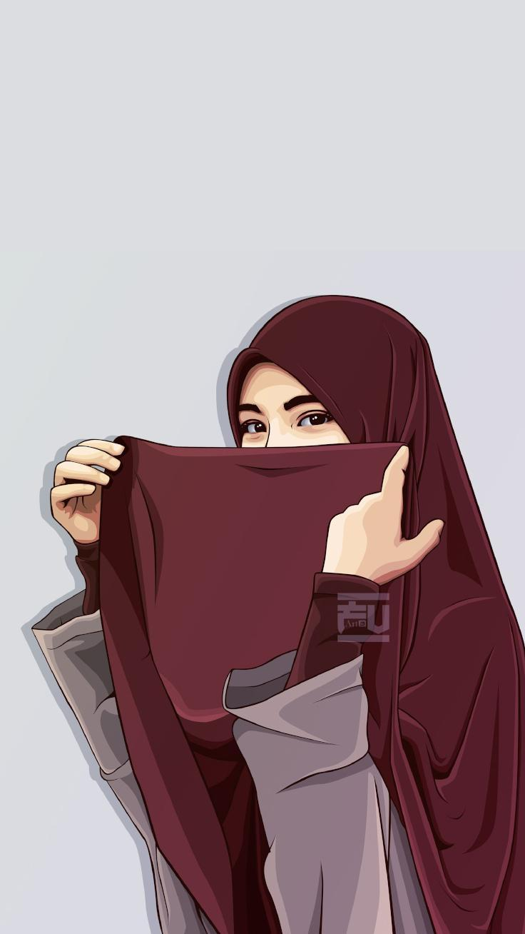 Wallpaper Kartun Muslimah Fline Terbaru For Android APK