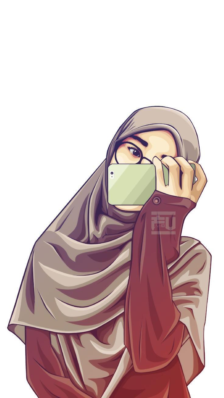 620 Koleksi Gambar Kartun Muslimah Imut Lucu Gratis Terbaik
