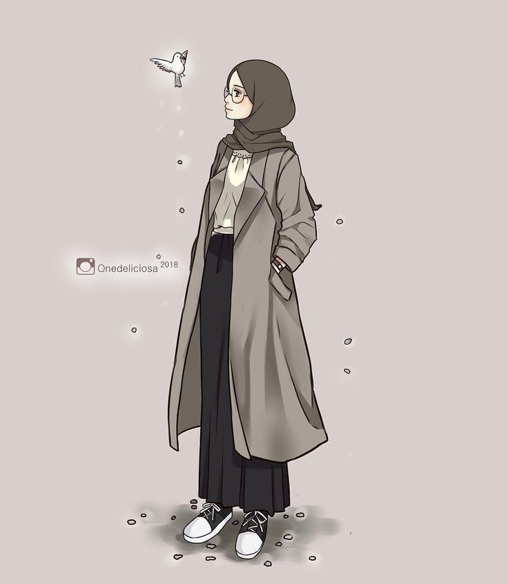 Wallpaper Gambar Kartun Muslimah Cantik - Rahman Gambar