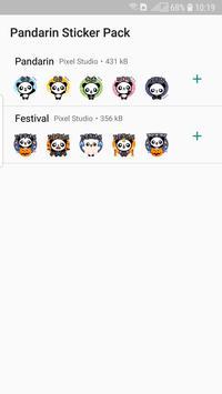 Pandarin WhatsApp Stickers screenshot 3