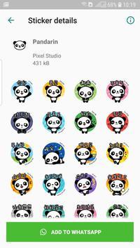 Pandarin WhatsApp Stickers screenshot 2