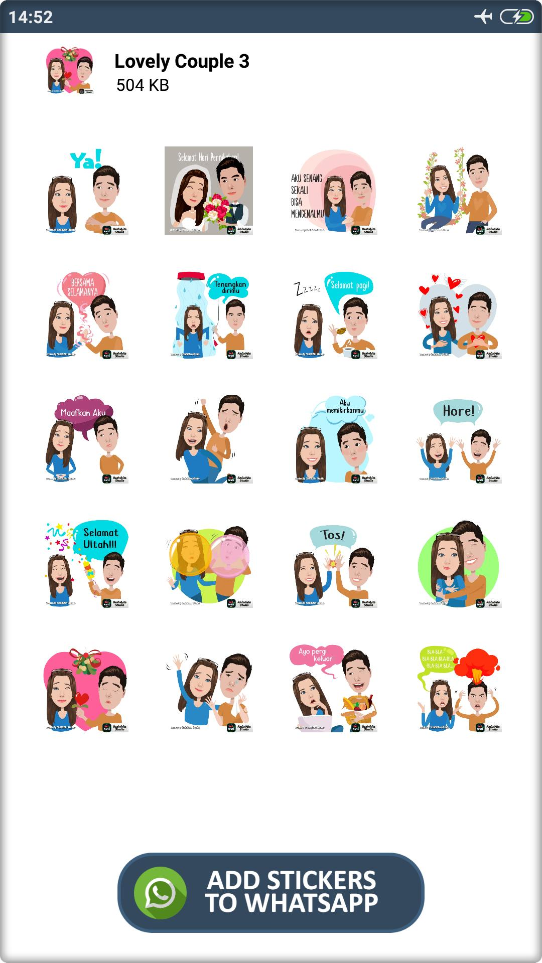 Stiker Pasangan Romantis Wastickerapps For Android Apk