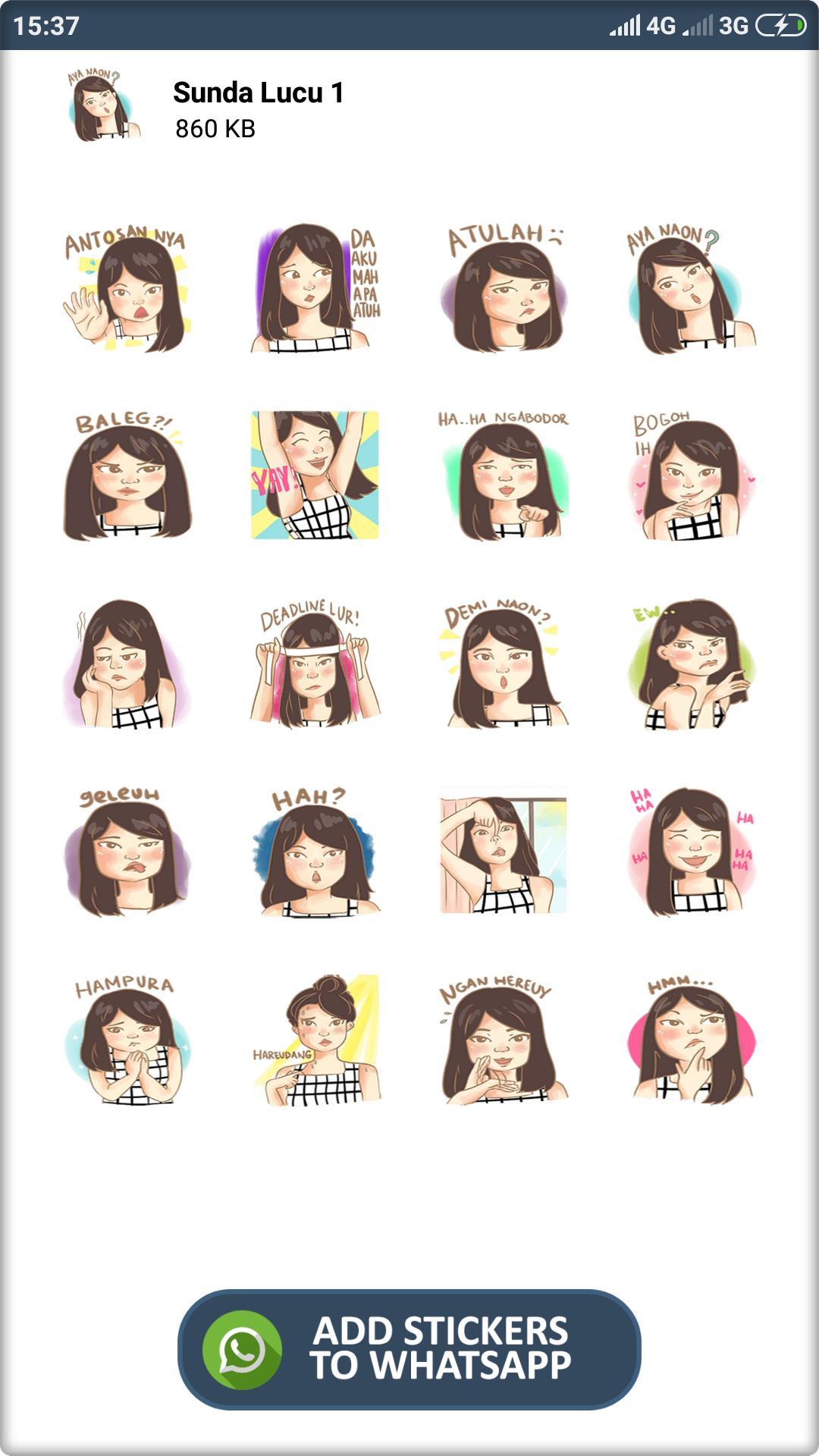 Stiker Sunda Lucu Wastickerapps For Android Apk Download