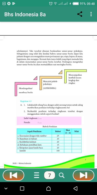 Bahasa Indonesia Hal 153 Semester 2 Kelas 11
