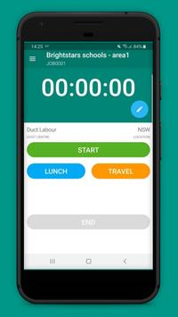 ABM Mobile Employee Time Clock poster