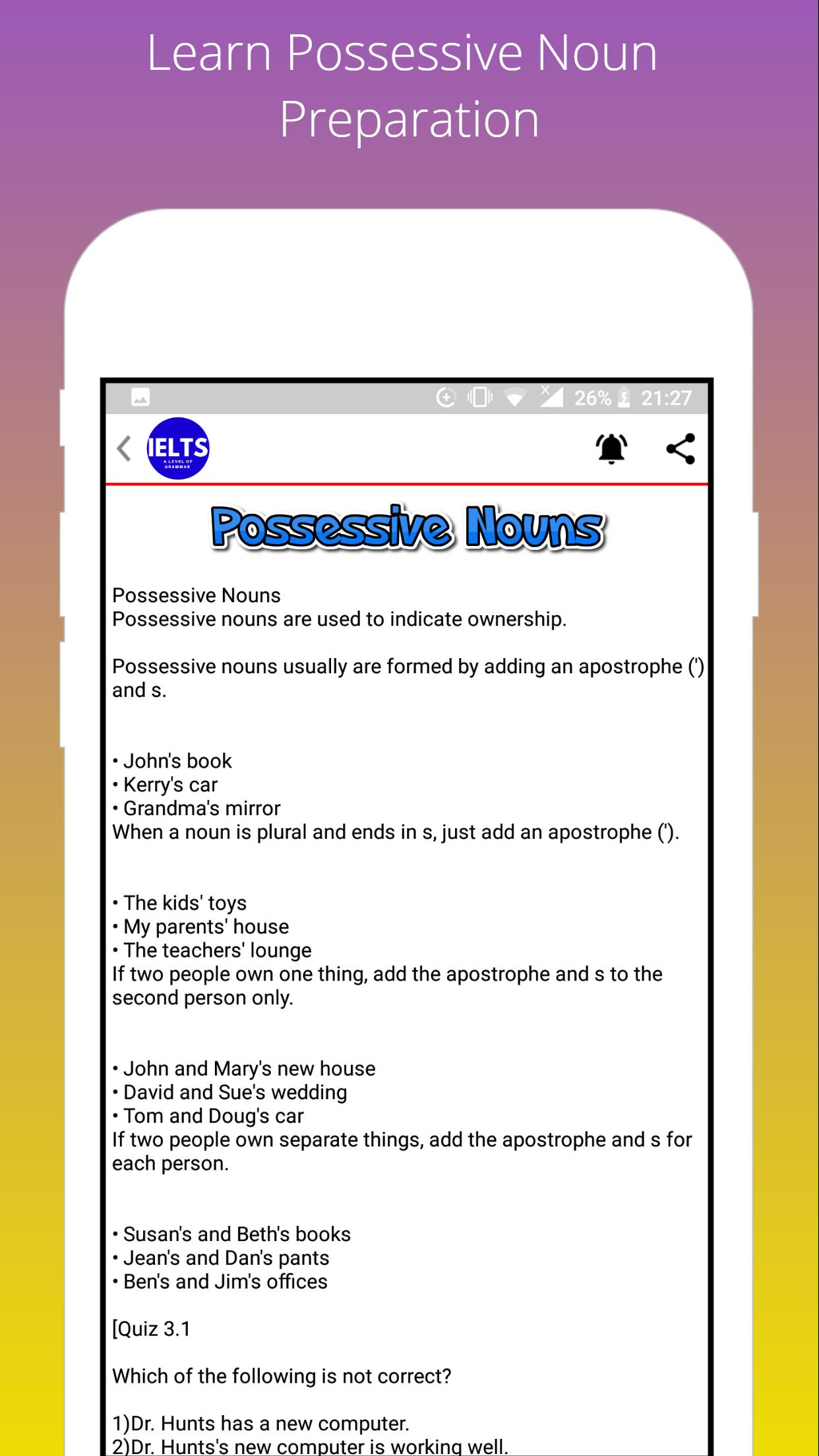 IELTS: A Level of English Grammar for Android - APK Download