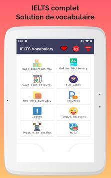 Vocabulaire IELTS capture d'écran 6