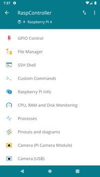 RaspController screenshot 1
