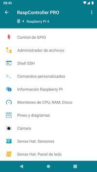 RaspController captura de pantalla 1