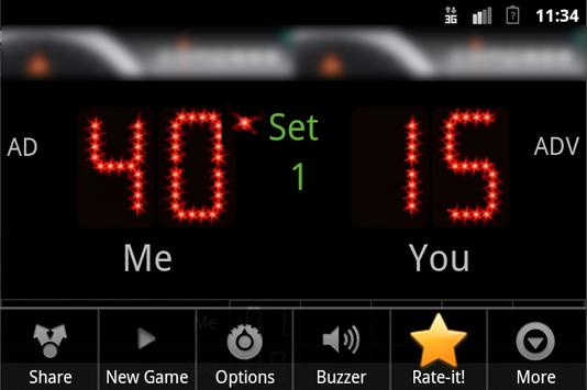 Scoreboard Tennis ++ screenshot 2