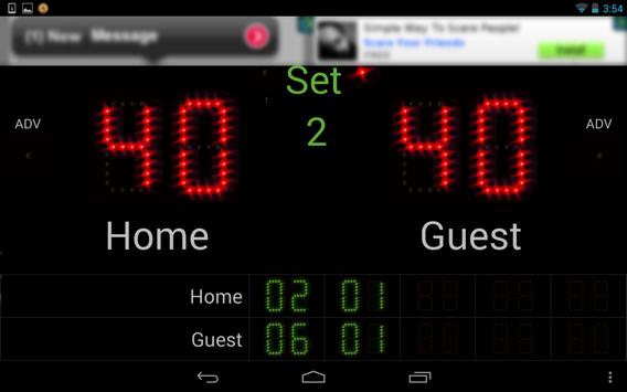 Scoreboard Tennis ++ screenshot 4