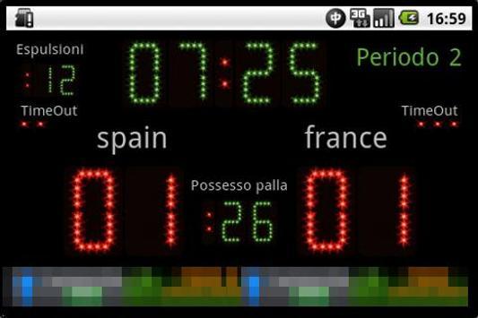 Scoreboard Waterpolo ++ screenshot 1