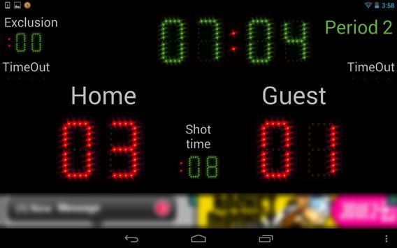 Scoreboard Waterpolo ++ screenshot 9