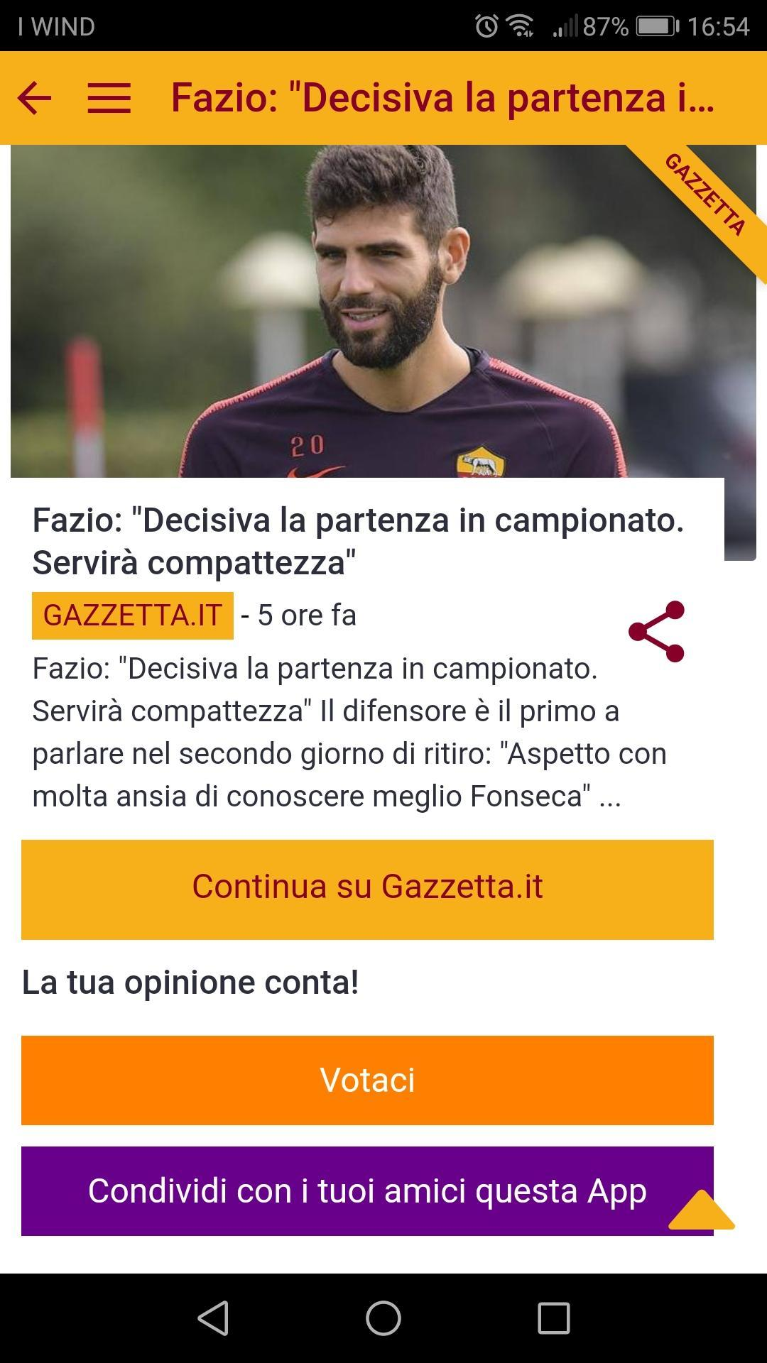 Roma Calcio News For Android Apk Download