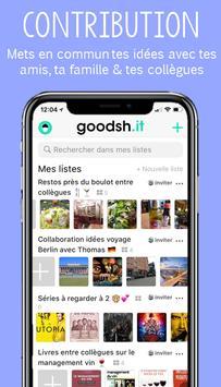 Goodsh.it collaborative list screenshot 1