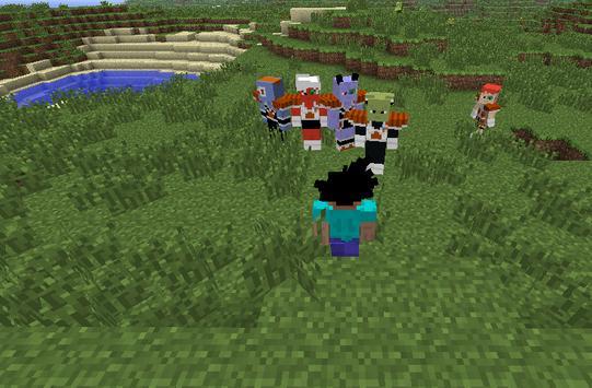 Saiyan Mod for Minecraft poster