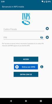 1 Schermata INPS mobile