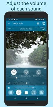 雨の音 - 睡眠のための雨の音 スクリーンショット 6